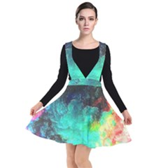3d Paint                                          Plunge Pinafore Dress