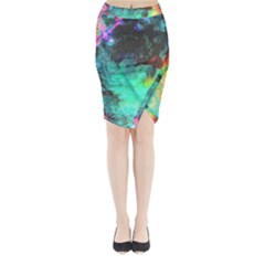 3d Paint                                      Midi Wrap Pencil Skirt