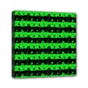 Monster Green and Black Halloween Nightmare Stripes  Mini Canvas 6  x 6  (Stretched) View1