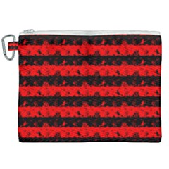 Red Devil And Black Halloween Nightmare Stripes  Canvas Cosmetic Bag (xxl) by PodArtist