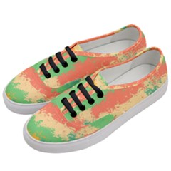 Spots In Retro Colors                                       Women s Classic Low Top Sneakers by LalyLauraFLM