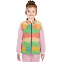 Spots In Retro Colors                                       Kid s Puffer Vest