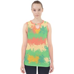 Spots In Retro Colors                                             Cut Out Tank Top