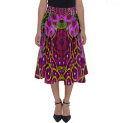 Star Of Freedom Ornate Rainfall In The Tropical Rainforest Perfect Length Midi Skirt
