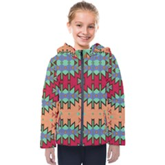 Misc Tribal Shapes                                              Kids  Hooded Puffer Jacket