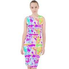 Pink Yellow Blue Green Texture                                                   Midi Bodycon Dress