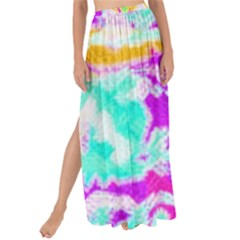 Pink Yellow Blue Green Texture                                               Maxi Chiffon Tie-up Sarong by LalyLauraFLM