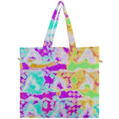 Pink Yellow Blue Green Texture                                            Canvas Travel Bag by LalyLauraFLM