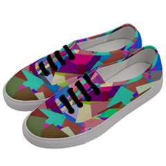 Colorful Squares                                            Men s Classic Low Top Sneakers by LalyLauraFLM