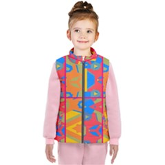 Colorful Shapes In Tiles                                             Kid s Puffer Vest