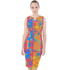 Colorful Shapes In Tiles                                                     Midi Bodycon Dress by LalyLauraFLM