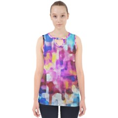 Blue Pink Watercolors                                                    Cut Out Tank Top by LalyLauraFLM