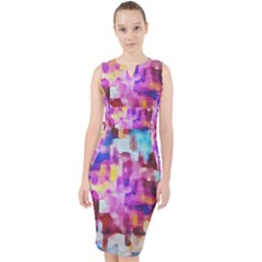 Blue Pink Watercolors                                                      Midi Bodycon Dress