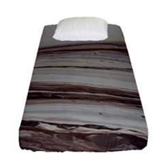 Brown Round Fitted Sheet (single Size) by WILLBIRDWELL