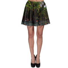Hawaiian Beach Abstract Skater Skirt by bloomingvinedesign