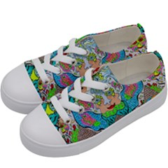 Angel Pyramid Blaster Kids  Low Top Canvas Sneakers by chellerayartisans