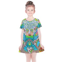 Angel Pyramid Blaster Kids  Simple Cotton Dress