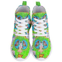 Supersonic Cosmic Galaxy Eyes Women s Lightweight High Top Sneakers by chellerayartisans