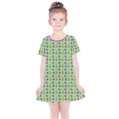 Roses Are Sorbet Pattern Kids  Simple Cotton Dress