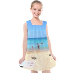 Day At The Beach Kids  Cross Back Dress