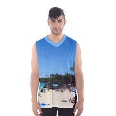 Day At The Beach With Umbrella Men s Basketball Tank Top