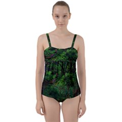 Wilderness Crossing Twist Front Tankini Set by bloomingvinedesign