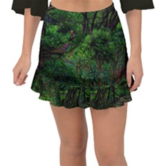 Wilderness Crossing Fishtail Mini Chiffon Skirt by bloomingvinedesign