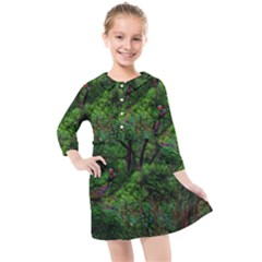 Wilderness Crossing Kids  Quarter Sleeve Shirt Dress by bloomingvinedesign