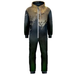 Mountains Near West Hooded Jumpsuit (men)  by bloomingvinedesign