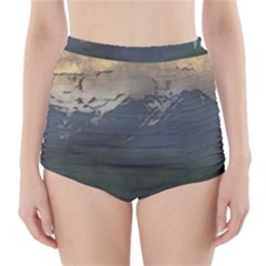 Mountains Near West High Waisted Bikini Bottoms by bloomingvinedesign