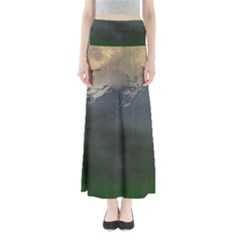 Mountains Near West Full Length Maxi Skirt by bloomingvinedesign