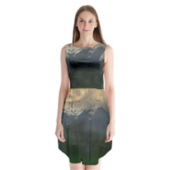 Mountains Near West Sleeveless Chiffon Dress   by bloomingvinedesign