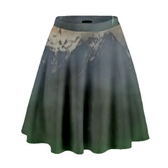 Mountains Near West High Waist Skirt by bloomingvinedesign