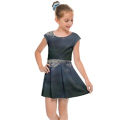 Mountains Near West Kids Cap Sleeve Dress by bloomingvinedesign