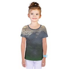 Mountains Near West Kids  One Piece Tee by bloomingvinedesign