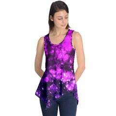 Pink Bokeh Light Hearts Sleeveless Tunic