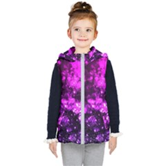 Pink Bokeh Light Hearts Kid s Hooded Puffer Vest by bloomingvinedesign