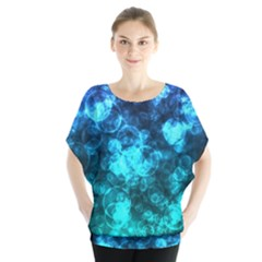 Blue Ocean Bokeh Lights Blouse by bloomingvinedesign