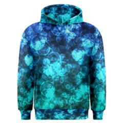 Blue Ocean Bokeh Lights Men s Overhead Hoodie by bloomingvinedesign