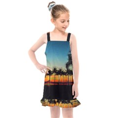 Sunset From The Car Kids  Overall Dress