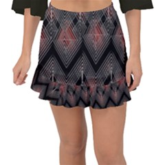Blurred Lines Red And Black Designs By Flipstylez Designs Fishtail Mini Chiffon Skirt