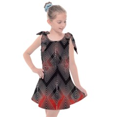 Blurred Lines Red And Black Designs By Flipstylez Designs Kids  Tie Up Tunic Dress