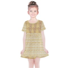 Seamless Gold Lace Nature Design By Flipstylez Designs Kids  Simple Cotton Dress