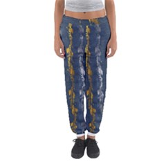 Gold And Silver Blue Jean Look By Flipstylez Designs Women s Jogger Sweatpants by flipstylezdes