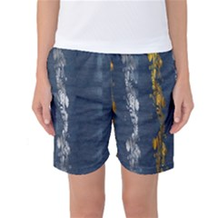 Gold And Silver Blue Jean Look By Flipstylez Designs Women s Basketball Shorts by flipstylezdes