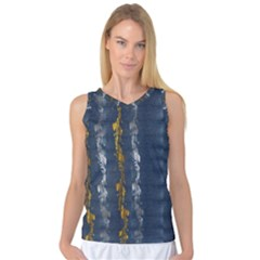 Gold And Silver Blue Jean Look By Flipstylez Designs Women s Basketball Tank Top by flipstylezdes