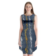 Gold And Silver Blue Jean Look By Flipstylez Designs Sleeveless Chiffon Dress   by flipstylezdes