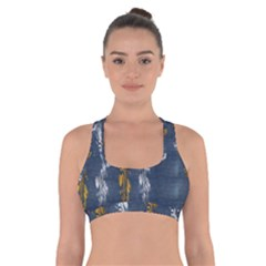 Gold And Silver Blue Jean Look By Flipstylez Designs Cross Back Sports Bra by flipstylezdes