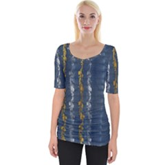 Gold And Silver Blue Jean Look By Flipstylez Designs Wide Neckline Tee