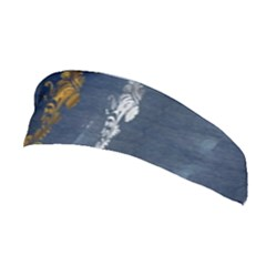 Gold And Silver Blue Jean Look By Flipstylez Designs Stretchable Headband by flipstylezdes